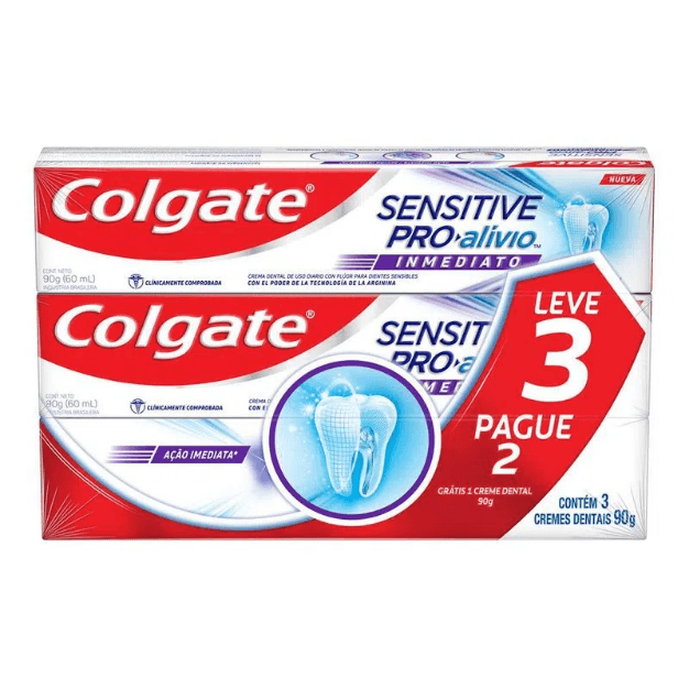 Creme Dental Colgate Sensitive Pro Alivio 90g Leve 3 Pague 2
