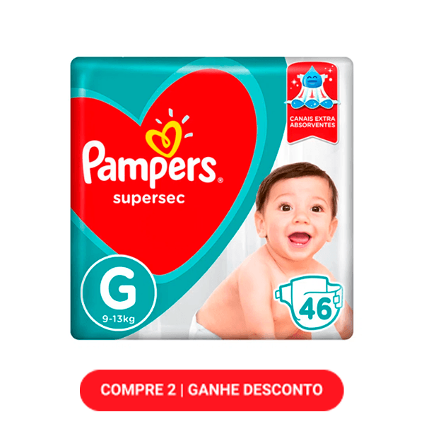 Fraldas Pampers Supersec G 46 Unidades