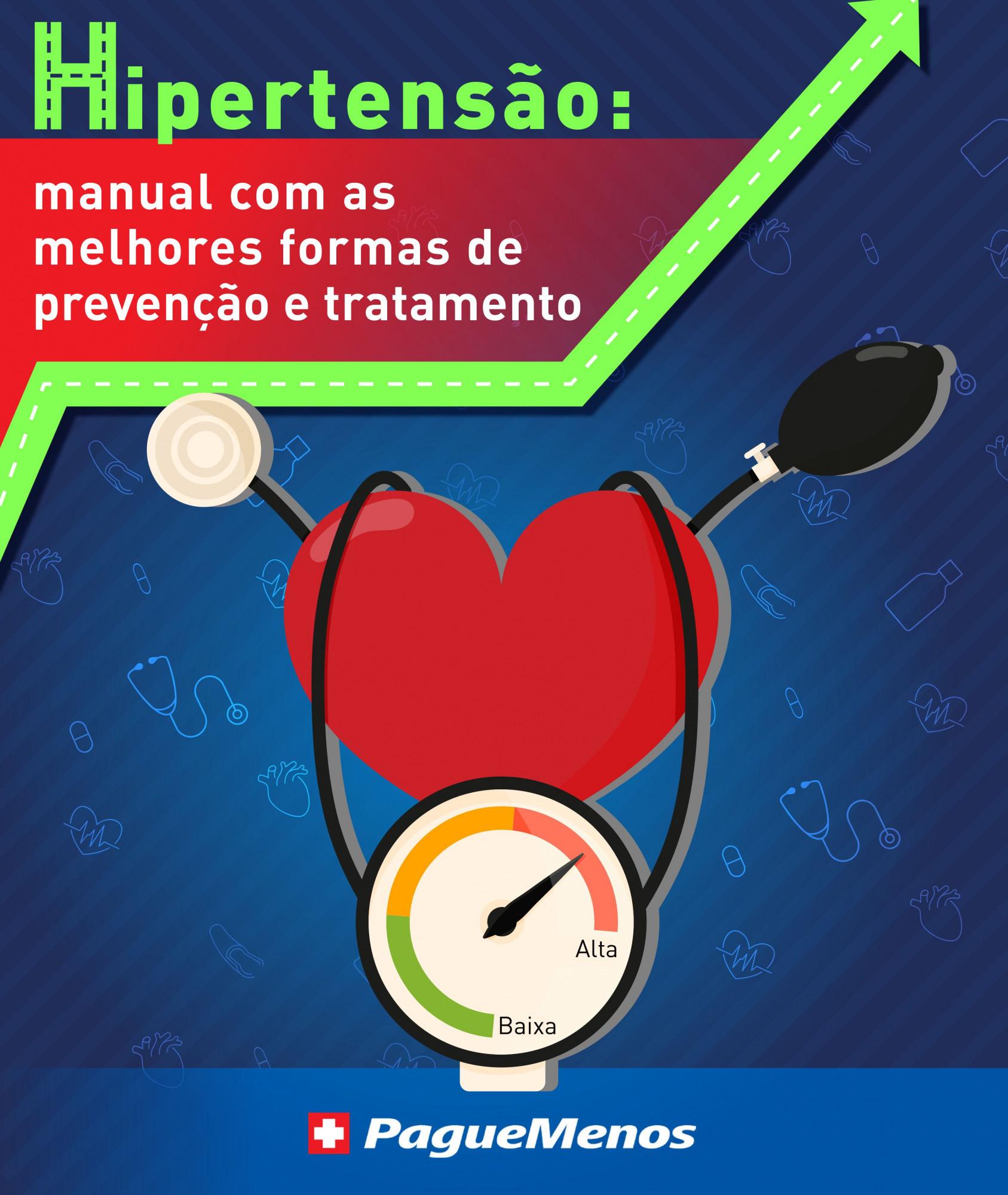 E-book: Hipertensão manual com as melhores formas de prevensão e tratamento