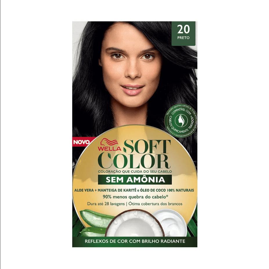 Tinta de Cabelo Soft Color Preto 20